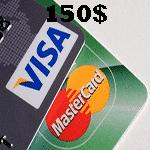 ویزا کارت مجازی 150 دلاری