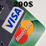 ویزا کارت مجازی 200 دلاری