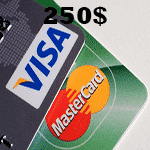 ویزا کارت مجازی 250 دلاری