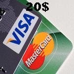 ویزا کارت مجازی 20 دلاری