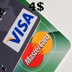ویزا کارت یا مستر کارت مجازی 4 دلاری | تحویل 24 ساعته