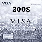 ویزا کارت 200 دلاری