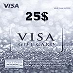 ویزا کارت 25 دلاری آمریکا