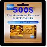 گيفت كارت 500 دلاری امريكن اكسپرس