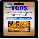 گيفت كارت 100 دلاری امريكن اكسپرس
