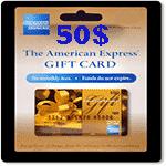 گيفت كارت 50 دلاری امريكن اكسپرس