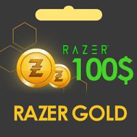 گیفت کارت 100 دلاری ریزر گلد razer gold