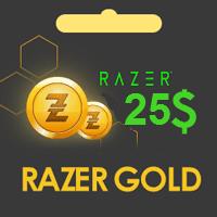 گیفت کارت 25 دلاری ریزر گلد razer gold