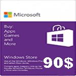 گيفت كارت90 دلاری مايكروسافت