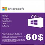 گیفت کارت 60 دلاری مایکروسافت