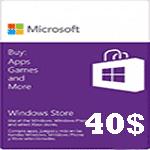 گيفت كارت40 دلاری مايكروسافت