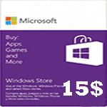 گيفت كارت15 دلاری مايكروسافت
