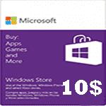 گیفت کارت 10 دلاری مایکروسافت