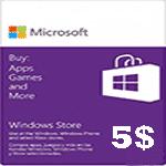 گيفت كارت5 دلاری مايكروسافت