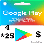 گيفت كارت 100 دلارى گوگل پلی امريكا (4*25)
