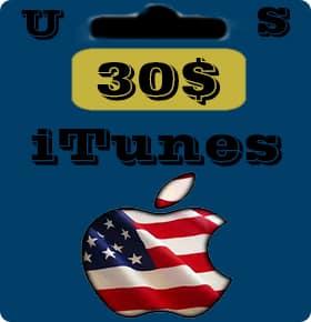 گیفت کارت 30 دلاری اپل آیتونز امریکا