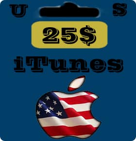گیفت کارت 25 دلاری اپل آیتونز امریکا