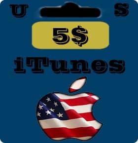 گيفت كارت 5 دلاری اپل آيتونز امريكا
