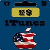 گيفت كارت 2 دلاری اپل آيتونز امريكا