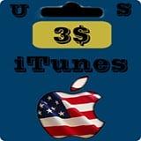 گيفت كارت 3 دلاری اپل آيتونز امريكا