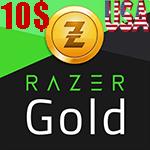 گیفت کارت 10 دلاری Razer Gold ریزر گلد امریکا