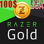 گیفت کارت 100 دلاری Razer Gold ریزر گلد امریکا
