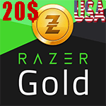 گیفت کارت 20 دلاری Razer Gold ریزر گلد امریکا