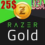 گیفت کارت 25 دلاری Razer Gold ریزر گلد امریکا