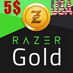 گیفت کارت 5 دلاری Razer Gold ریزر گلد امریکا