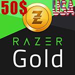 گیفت کارت 50 دلاری Razer Gold ریزر گلد امریکا