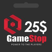گيفت كارت 25 دلاری GameStop گیم استاپ