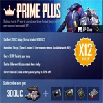 پرایم پلاس پابجی + پرایم + 60 یوسی پابجی موبایل